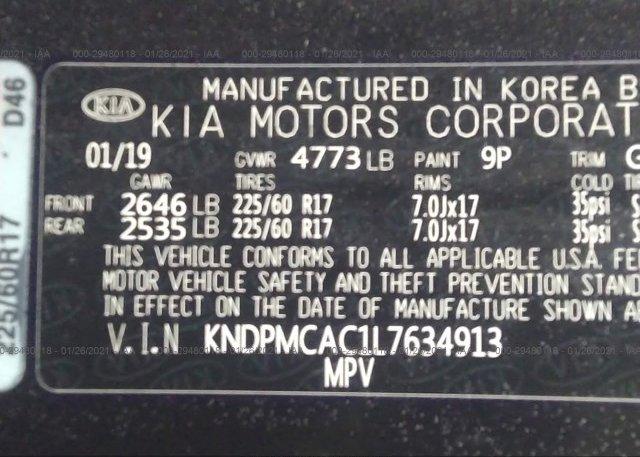KNDPMCAC1L7634913 2020 KIA SPORTAGE