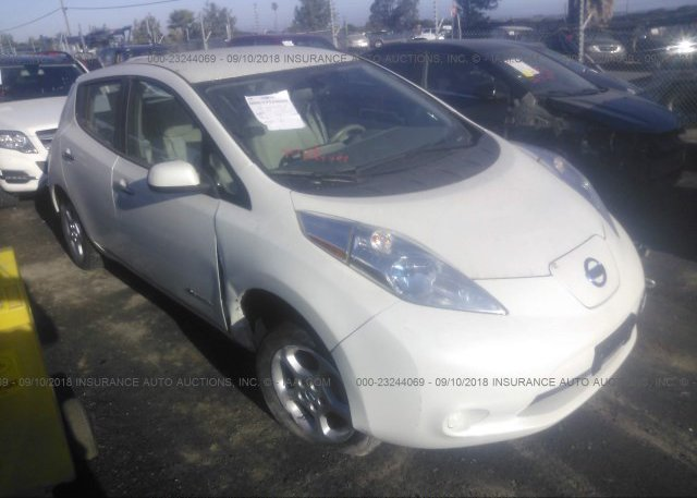 1n4az0cp8gc309524 Bill Of Sale White Nissan Leaf At Tukwila Wa On