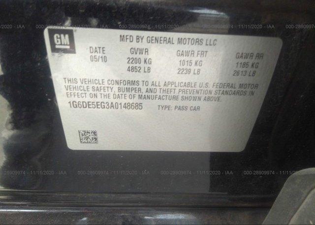 1G6DE5EG3A0148685 2010 CADILLAC CTS SEDAN