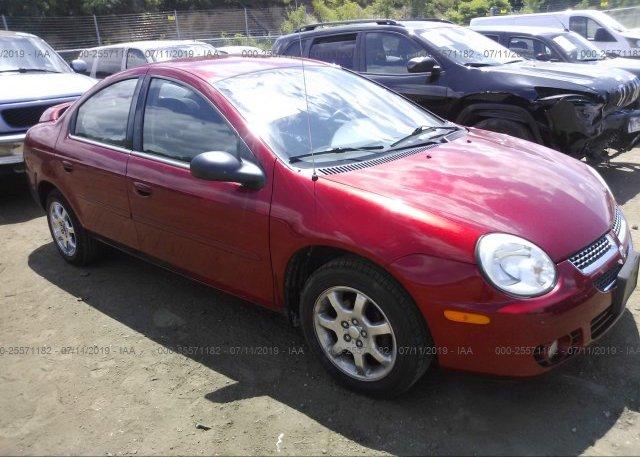 Inventory #823007301 2005 Dodge NEON