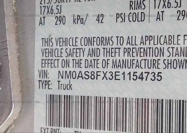 NM0AS8FX3E1154735 2014 FORD TRANSIT CONNECT WAGON