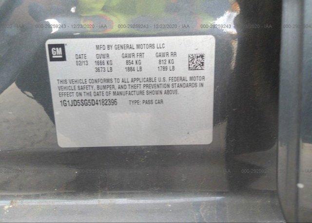 1G1JD5SG5D4182396 2013 CHEVROLET SONIC