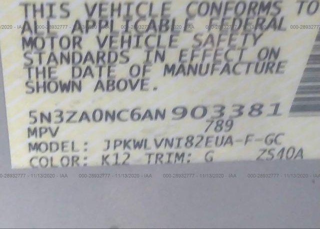 5N3ZA0NC6AN903381 2010 INFINITI QX56
