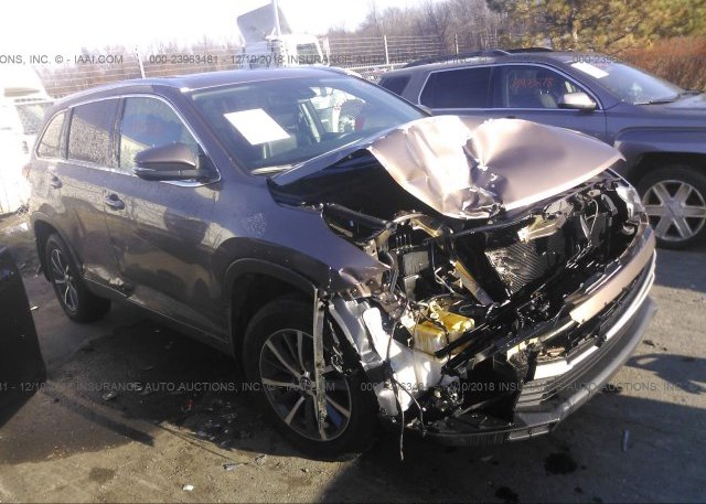 5tdjzrfhxhs381506 Salvage Brown Toyota Highlander At East Windsor