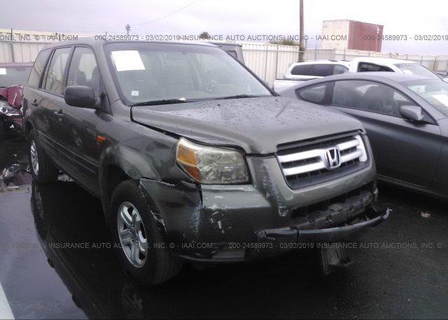 Inventory #843489655 2006 Honda PILOT