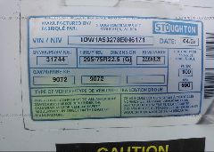 2008 STOUGHTON TRAILERS INC VAN - 1DW1A53278E046171 engine view