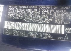 2007 TOYOTA SCION TC - JTKDE177X70204982 engine view
