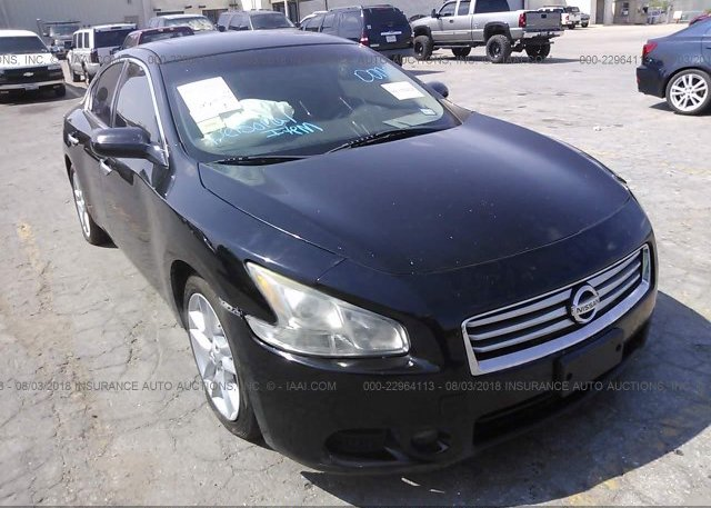 1n4aa5ap2cc824472 Salvage Title Black Nissan Maxima At San Antonio
