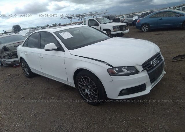 WAULF78K29A139190, Salvage Certificate white Audi A4 at