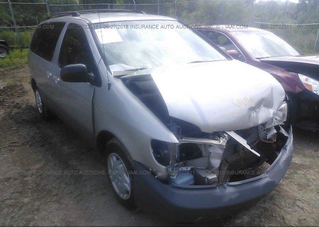 Inventory #168804002 2002 Toyota SIENNA