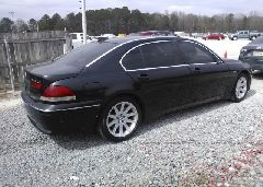 2003 BMW 745 - WBAGN63413DR17864 rear view