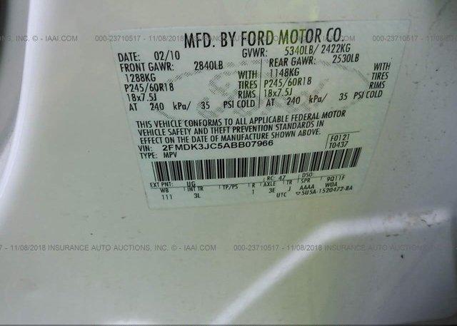 2010 FORD EDGE - 2FMDK3JC5ABB07966