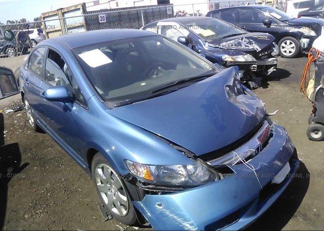 1HGFA16589L010868 Salvage Certificate Light Blue Honda Civic At