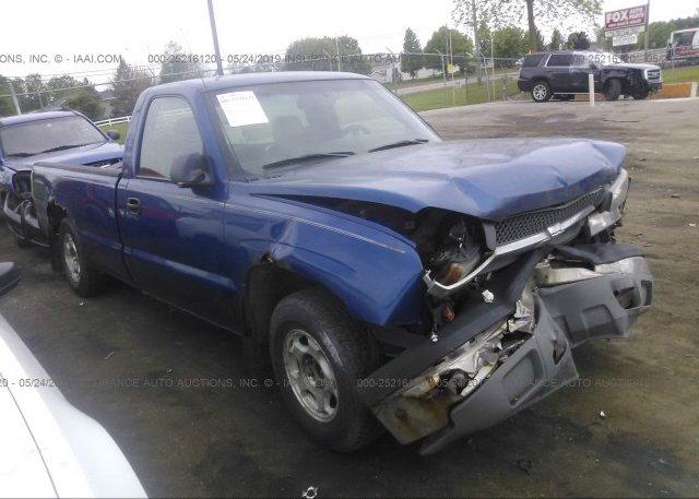 Inventory #589276920 2003 Chevrolet SILVERADO