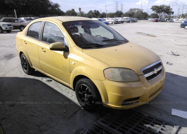 Kl1td56638b063594 Clear Yellow Chevrolet Aveo At