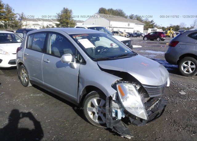 3n1bc13e68l378774, salvage silver nissan versa at turnersville, nj