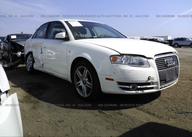 WAUAH78E46A263162 Salvage Certificate White Audi A4 At LOS ANGELES