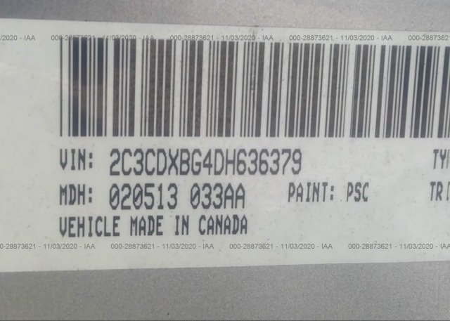 2C3CDXBG4DH636379 2013 DODGE CHARGER