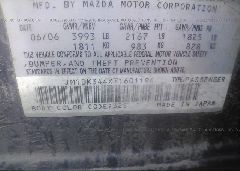 2007 Mazda 3 - JM1BK344X71601194 engine view