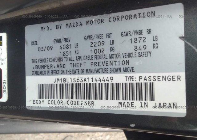 JM1BL1S63A1144449 2010 MAZDA MAZDA3
