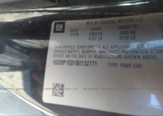 1G6DP1ED1B0132771 2011 CADILLAC CTS COUPE