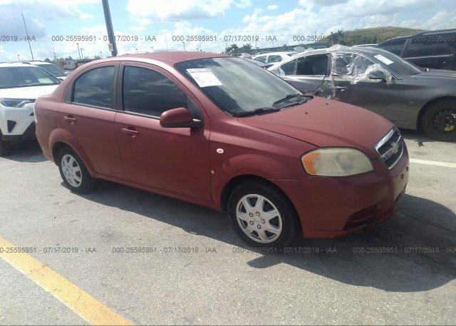 Inventory #877063962 2007 Chevrolet AVEO