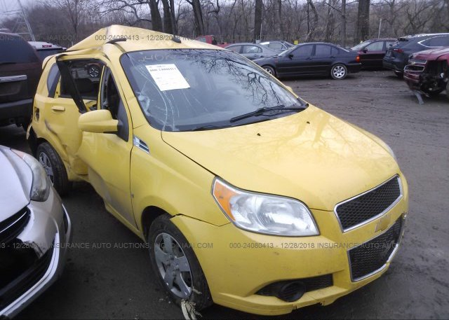 Kl1td66e69b642318 Salvage Yellow Chevrolet Aveo At Indianapolis In