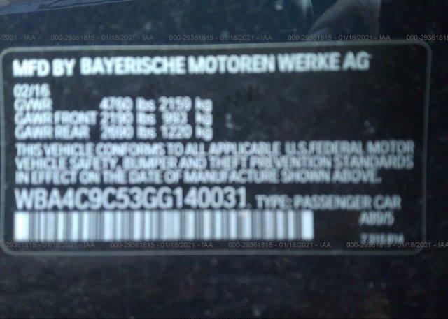 WBA4C9C53GG140031 2016 BMW 4 SERIES