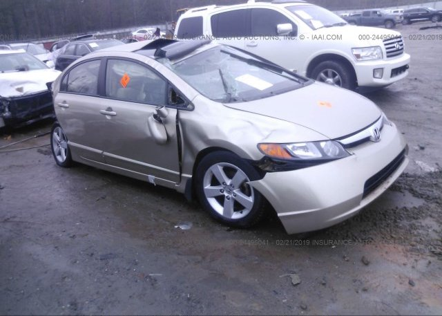 2HGFA16588H318702, Clear black Honda Civic at SHIRLEY, MA on online