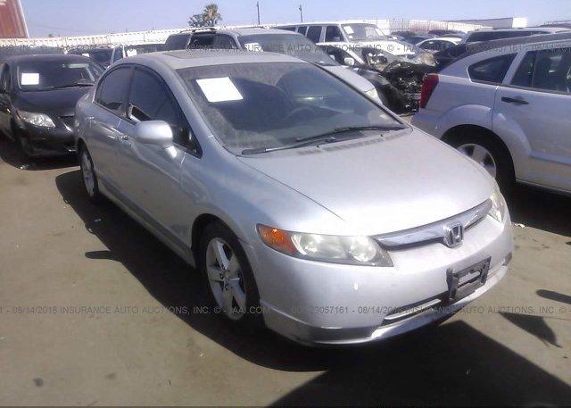 2HGFA16808H340056 Salvage Certificate Silver Honda Civic At LOS