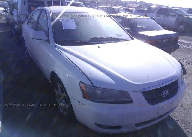 5npeu46fx6h096597 Bill Of Sale White Hyundai Sonata At Bay