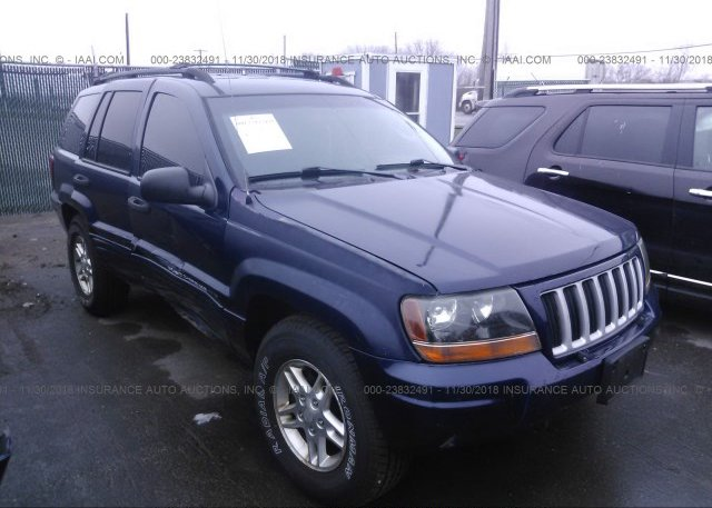 1j4gw48n34c285540 Salvage Blue Jeep Grand Cherokee At Vermilion Oh