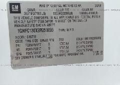 2008 Chevrolet TAHOE - 1GNFC130X8R250069 engine view