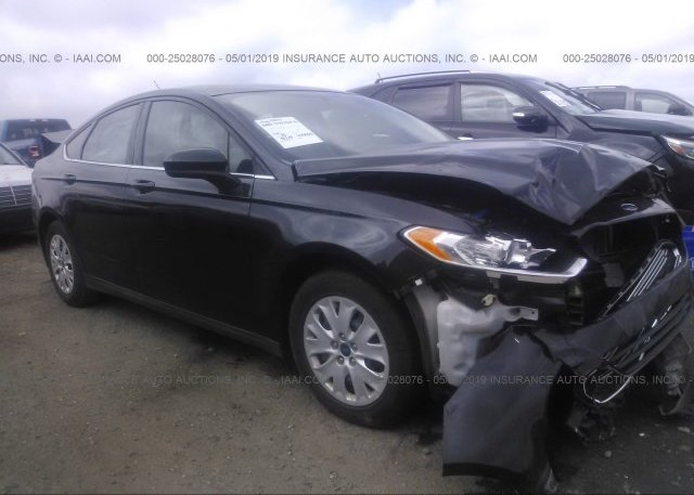 3FA6P0G7XER335238, Salvage black Ford Fusion at CLAYTON, NC on