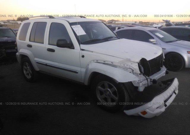 1j8gl58k26w124441 Salvage White Jeep Liberty At Phoenix Az On