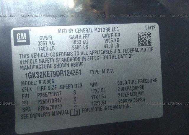 1GKS2KE79DR124391 2013 GMC YUKON XL