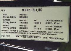 2019 TESLA MODEL 3 - 5YJ3E1EAXKF311915 engine view
