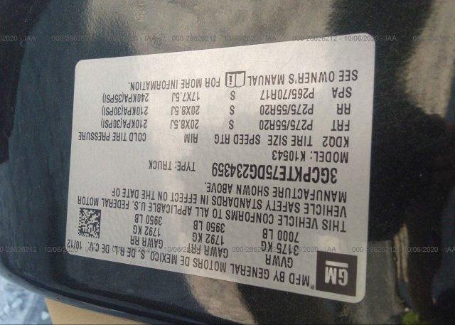 3GCPKTE75DG234359 2013 CHEVROLET SILVERADO 1500