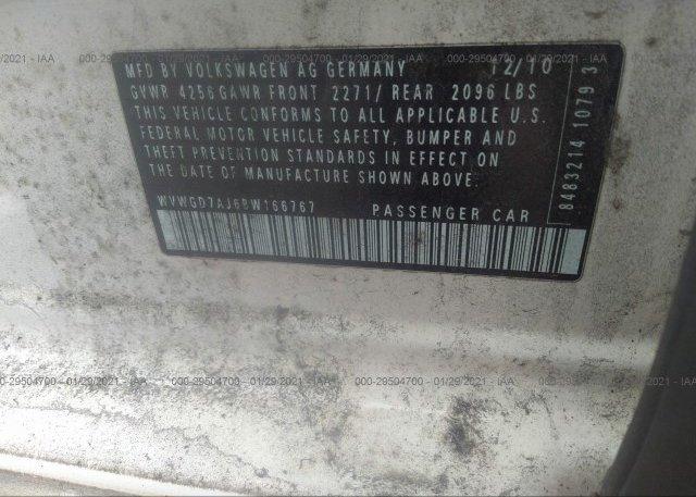 WVWGD7AJ6BW166767 2011 VOLKSWAGEN GTI