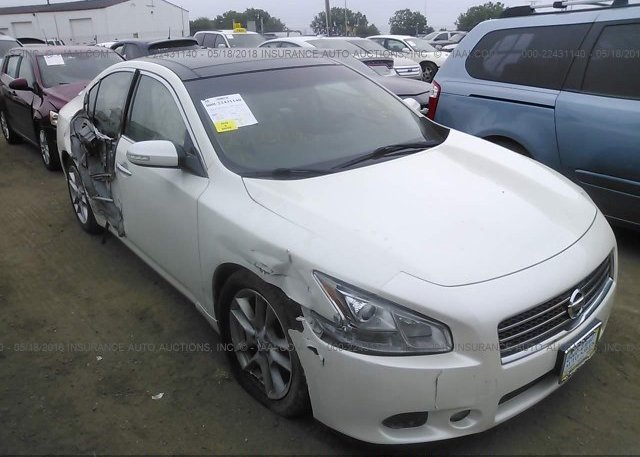1n4aa5ap9bc806503 Salvage White Nissan Maxima At Indianapolis In