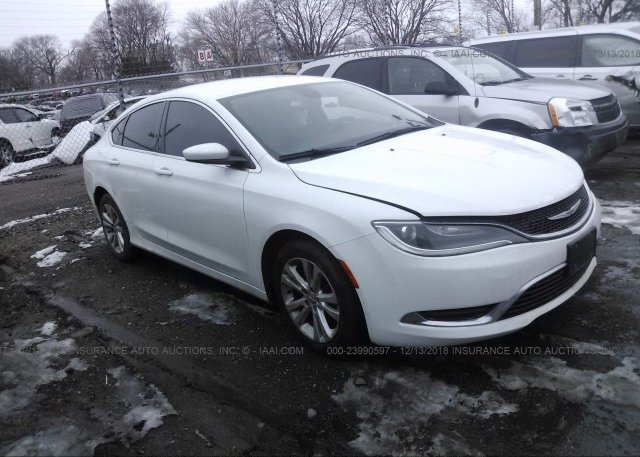 1c3cccab7fn716948 Salvage White Chrysler 200 At Springfield Ne On