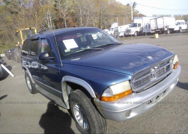 Inventory #378740525 2002 Dodge DURANGO