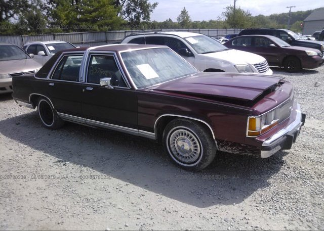 Inventory #935142621 1988 FORD CROWN VICTORIA