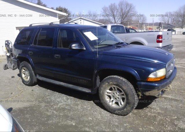 Inventory #699780421 2002 Dodge DURANGO
