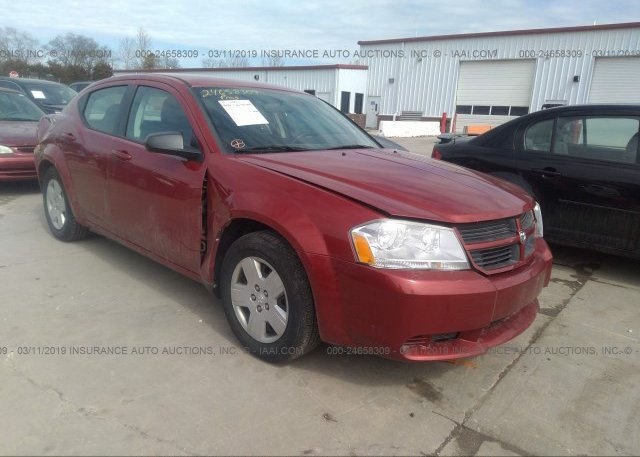 1b3cc4fb0an112677 Salvage Red Dodge Avenger At Granite City Il On