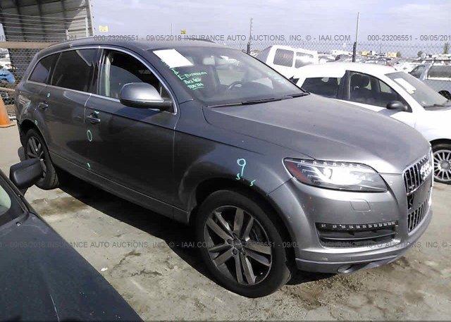 Wa1vyafe0ad002343 Salvage Certificate Gray Audi Q7 At San Diego Ca