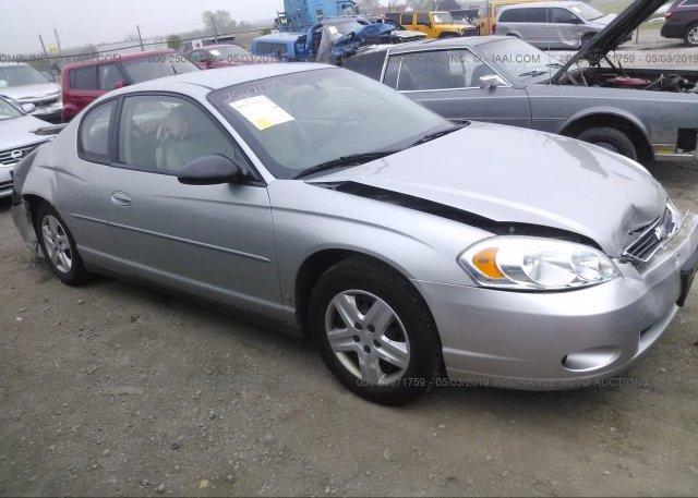 Inventory #757763230 2007 Chevrolet MONTE CARLO