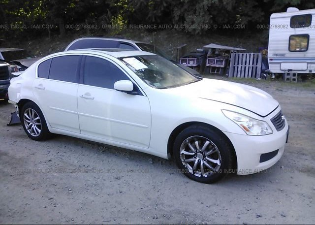 Jnkbv61f27m804138 Clear White Infiniti G35 At Middletown Ct On