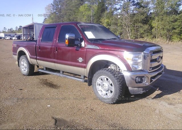 1ft7w2bt6ceb48306 salvage burgundy ford f250 at paducah ky on