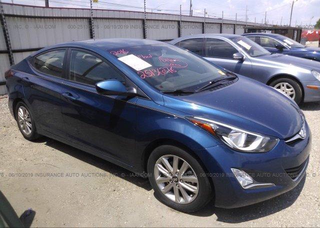 Inventory #779126517 2016 Hyundai ELANTRA